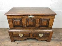 18th Century Style Welsh Oak Coffer Bach C.1930 (M-665)