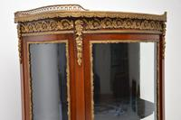 Antique French Mahogany & Marble Display Cabinet Vitrine (9 of 10)