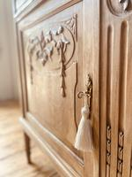 French Antique Oak Cupboard / Cabinet with Marble (9 of 10)