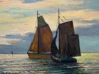 Andries Debeuf Flemish, Stunning Large Moonlit Seascape Oil Painting (9 of 13)