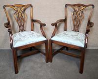 Set of Eight Mahogany Chippendale Style Chairs G.t.rackstraw - Droitwich (2 of 12)