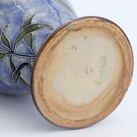 Royal Doulton Stoneware Tubelined Vase with Verse by Bessie Newbery c.1910 (8 of 8)