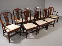 Good Set of 8 George III Period Hooped Backed Dining Chairs (2 of 5)
