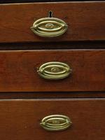 Antique Small Georgian Oak Chest of Drawers, Small Chest of Modest Proportions (9 of 15)