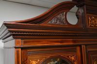 Antique Victorian Inlaid Mahogany Wardrobe by James Shoolbred (11 of 17)