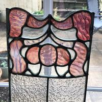 Antique Stained Glass Panel with Pink Glass Detail (6 of 10)