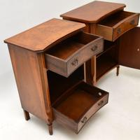 Pair of Georgian Style Burr Walnut Bedside Cabinets c.1930 (9 of 11)