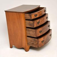 Antique Burr Walnut Bow Front Chest of Drawers (4 of 9)