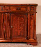 Italian Credenza In Walnut And Pear Wood Inlays - 17th Century (4 of 13)