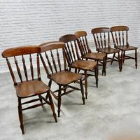 Set of 6 Antique Spindleback Kitchen / Dining Chairs (2 of 8)
