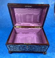 English Boulle & Brass Kingwood Edged Jewellery Box (10 of 16)