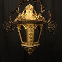 Italian Florentine Giltwood 19th Century Antique Lantern (2 of 10)