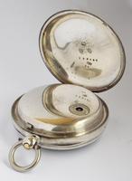 Antique Silver H Samuel Pocket Watch, 1890 (3 of 6)