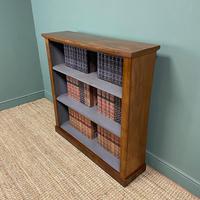 Victorian Mahogany Antique Open Bookcase (4 of 5)