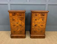 Pair of Burr Walnut Bedside Chest by Heal and Son (12 of 16)
