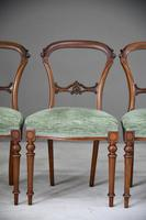 Set of 4 Antique Victorian Walnut Dining Chairs (2 of 12)