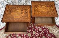 Pair of French Parquetry / Marquetry Side Tables (19 of 20)