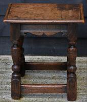 Lovely 19th Century Oak Joint Stool c.1800-1850 (10 of 10)