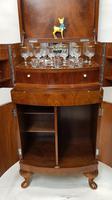 Art Deco Walnut Drinks Cabinet (4 of 8)