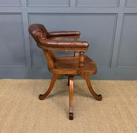 Victorian Revolving Desk Chair by Jas Shoolbred & Co (4 of 10)