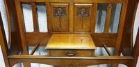 Large Art Nouveau Oak Hallstand (4 of 6)