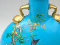 Minton Porcelain Moon Flask William Mussill 1875 Bleu Celeste (6 of 10)