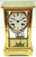 Fine  Antique French Table Regulator with Compensating Pendulum 8 Day 4 Glass Mantel Clock (2 of 11)