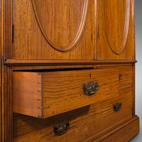 Antique Master Bedroom Wardrobe, Satinwood, Cupboard, Maple & Co, Edwardian (11 of 12)