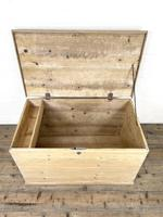 Antique Pine Trunk or Storage Chest (7 of 10)