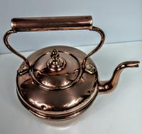 Late Victorian / Early 20th Century Copper Kettle (3 of 6)