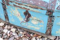 Scandinavian / Swedish 'Folk Art' Travel chest in blue paint and ironwork, 18th Century (35 of 37)