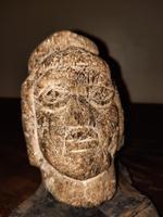 1206 A.D -1368 A.D. Mongol Empire Carved Schist Quartz Head
