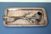 Arts & Crafts / Art Nouveau, Jugendstil Copper Pine Cone & Branch Candle holder c.1910 (6 of 28)