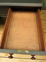 Antique Black Painted Pedestal Desk, 3 Parts, Gothic Shabby Chic (6 of 17)