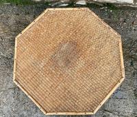 Antique Victorian Octagonal Bamboo Rattan Table (7 of 9)