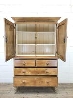 Antique Pine Cupboard with Drawers (5 of 11)