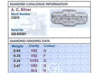 3.78ct Diamond & Platinum Brooch - Art Deco - Antique c.1920 (8 of 9)