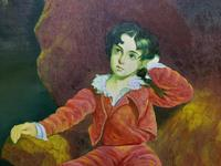 After: Sir Thomas Lawrence 'The Red Boy' Large Portrait Oil Painting (6 of 10)