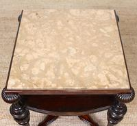 Marble Oak Side Table Continental Queen Anne (3 of 10)