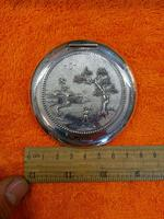 Vintage Solid Silver 0.900 Vietnam MY Ngme Compact with Mirror (7 of 8)