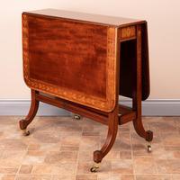Inlaid Mahogany Edwardian Sutherland Table (11 of 19)