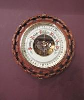 Antique Polished Oak Ship's Barometer (6 of 6)