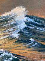 """Seascape Oil Painting """"St Ives Fishing Boat"""" Off Cornwall Coast by Keith English (7 of 36)"""