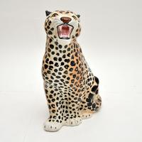 1970's Large Vintage Porcelain Leopard Sculpture (7 of 11)