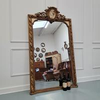Large Antique French Mirror c.1860 (2 of 9)