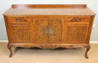 Burr Walnut Queen Anne Style Sideboard Server c.1930 (15 of 16)