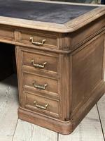 Quality 19th Century French Bleached Pedestal Desk (7 of 25)
