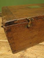 Antique Oak Chest, Early 19th Century Storage Chest for Weights, Lockable (17 of 21)