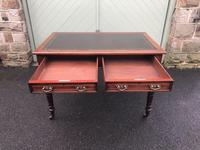 Antique Mahogany Two Draw Writing Table (5 of 11)