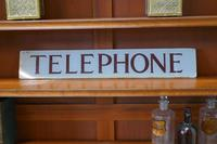 """Original GPO Glass """"TELEPHONE""""  sign from a Red Phone Box (6 of 6)"""